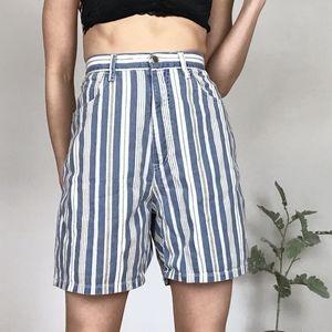 Vintage Bill Blass |  striped denim shorts